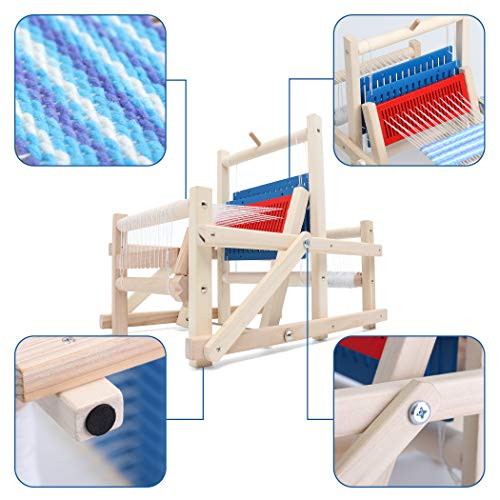 Lavievert Wooden Multi-Craft Weaving Loom DIY Hand-Knitting Weaving Machine Intellectual Toys for Kids by Lavievert (Image #2)