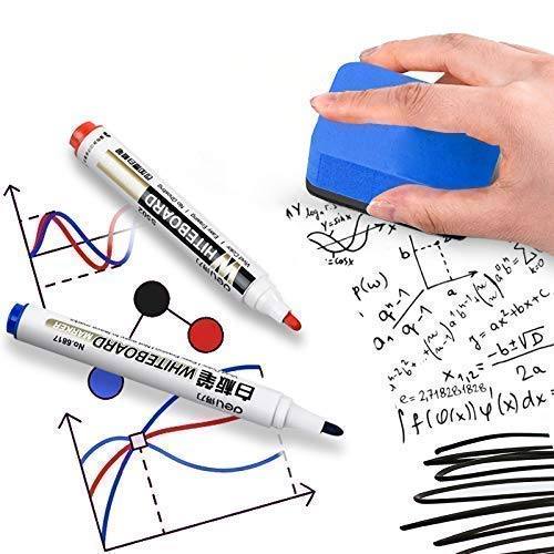 Dry Erase Erasers, 36 Pack Magnetic Whiteboard Eraser Chalkboard Eraser Dry Eraser for Classroom Office and home (Blue) by BINGBING (Image #2)
