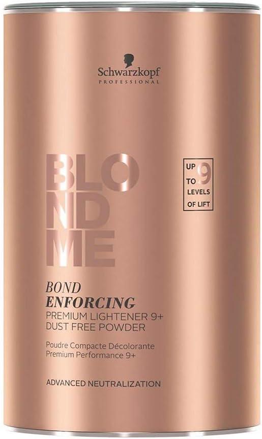 Schwarzkopf BlondMe Bond Enforcing Premium Lightener 9+ Dust Free Powder, Tinte Capilar 9 Niveles, 450 gr