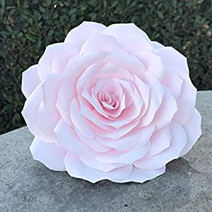 Giant 11 or 9 Inch Paper Rose - Customizable Colors 15