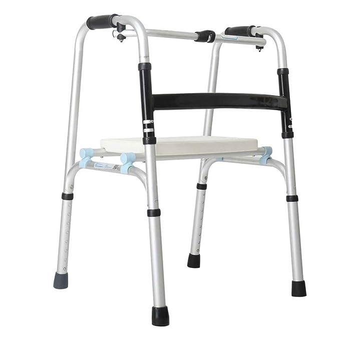ZEQUAN Silla De Ruedas, Andador, Anciano, Discapacitado, Cuatro ...