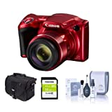 Canon Red PowerShot SX420 IS Digital Camera w/ 16GB SD and Camera Bag 1069C001