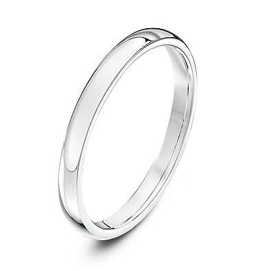 Theia Unisex Heavy Weight Court Shape Polished Platinum Wedding Ring Zh7e6K0