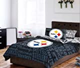 Pittsburgh Steelers TWIN Comforter & Sheets (4 Piece Bedding)