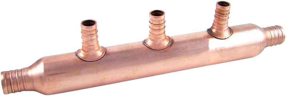 SharkBite 22784 3 Open Copper PEX Manifold, 1-Inch Trunk, 3/4-Inch, 1/2-Inch Ports, x