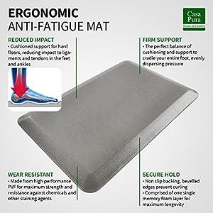 "Kitchen Mat | Anti Fatigue Mat, 3/4"" Thick | Ergonomically Engineered, Non-Slip, Waterproof"