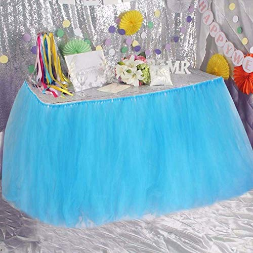 Party Diy Decorations - 1pcs 5 Colors Tulle Table Skirt Diy Tutu Tableware Skirts Decoration Baby Shower Favors Party Home - Abstract Pastel Change Birthday Game Star Tree Decorate Babies Taffeta ()