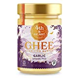 California Garlic Grass-Fed Ghee Butter by 4th & Heart, 9 Ounce, Pasture Raised, Non-GMO, Lactose Free, Certified Paleo and Keto