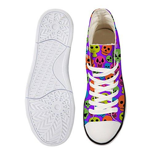 For U Design High-cut Canvas Sko Sneaker Sesongen Blonder Ups Skallen Sko Tilfeldige Trenere For Kvinner Hodeskalle 14
