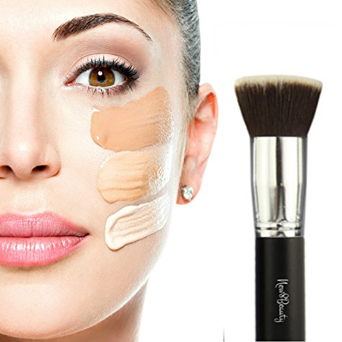 best-foundation-brush-flat-top-kabuki-synthetic-face-brush-applicator-blender-for-liquids-creams-con