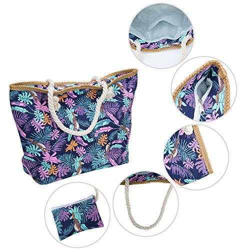 Pochette ZWOOS Zip Vacances sac de Sac Fourre Avec Grand Tout Plage qz8nZxn70