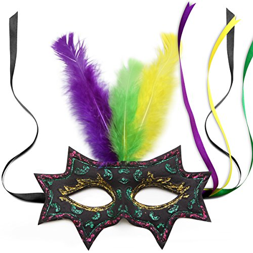 [Carnival Mask MetricUSA Extremely Soft and Comfortable Masquerade Mask Mardi Gras] (Soft And Sexy Mask)