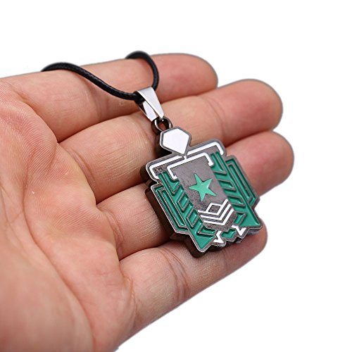 Auzeze Fps Game R6 Logo Choker Necklace Pendant Cosplay Gift for R6 Fan Souvenir (Style 3)