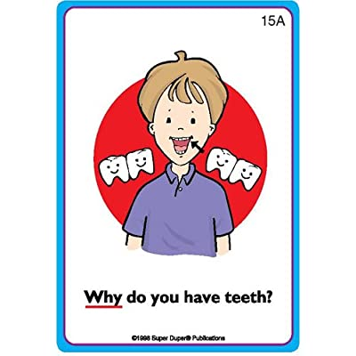 """Super Duper Publications Ask and Answer """"Why?"""" Questions Card Deck Educational Learning Resource for Children: Toys & Games"""