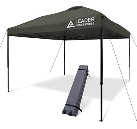 Leader Accessories 10x10 Straight Wall Pop Up Instant Canopy Dark Grey One Wheeled Carry Bag included  sc 1 st  Amazon.com & Amazon.com : Leader Accessories 10x10 Straight Wall Pop Up Instant ...