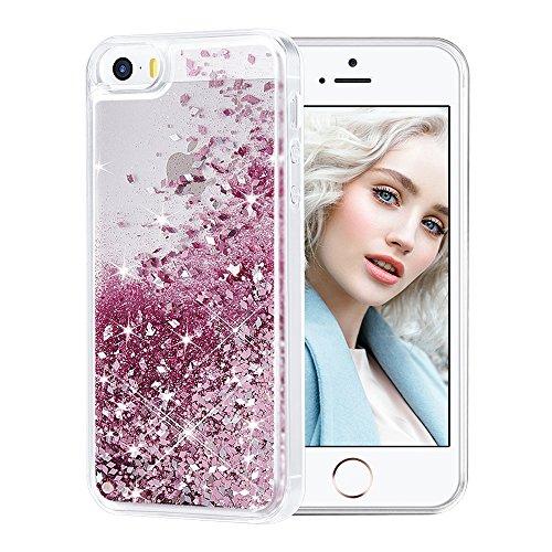 Maxdara iPhone SE Case, iPhone 5/5S Case, Glitter Liquid Bli