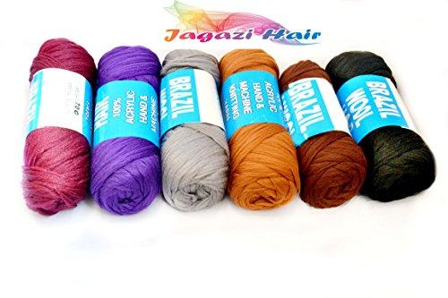 Various Colours. Brazilian Wool hair: Faux Locks, Braids, Twists, Knitting Brazil Wool. Yarn (Brazil Braid)