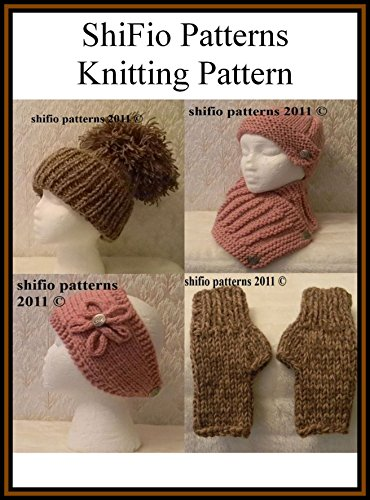 Knitting Pattern - KP197- hat, scarf, mitts and headband
