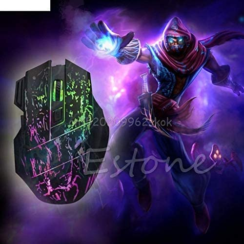 JohnnyBui 5500 DPI 7 Buttons LED Optical USB Wired Gaming Mouse Mice For Pro Gamer Mouse Color Backlight #H029#