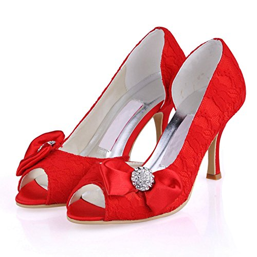 tendance Minitoo 7 Heel 5cm femme Red mariage Chaussures de rouge t6P6U