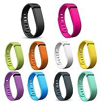 Austrake 10Pcs Replacement Bands for Fitbit Flex Wristband (10PCS Bands, Large)