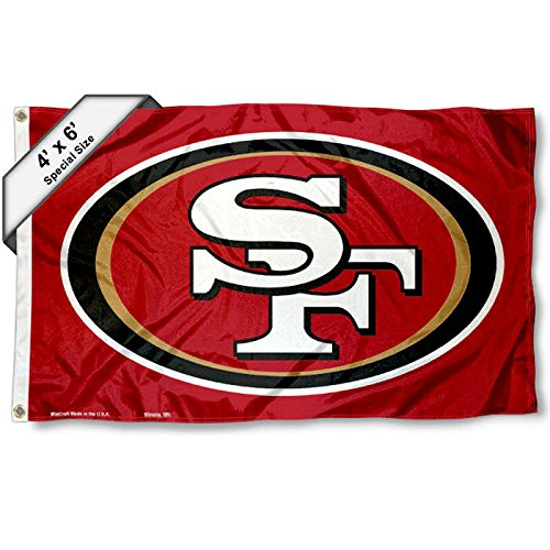 WinCraft San Francisco 49ers Large Outdoor 4 x 6 Flag and Banner