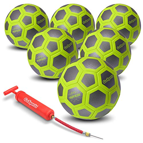 - GoSports Elite Futsal Ball 6 Pack - Great for Indoor or Outdoor Futsal Games or Practice - Choose Between Single or Six Pack - Includes Pump