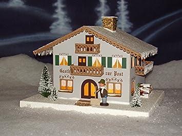 Amazon De Lichterhaus Gasthof Post Elektrisch Beleuchtet Lxbxh Ca