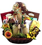 Sunflower Spa Gift Basket for Women