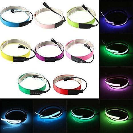 Amazon.com : Colorful Electroluminescent Tape EL Wire 8 Colors ...