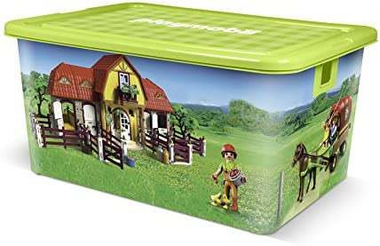 Playmobil Caja de plástico 35L Granja: Amazon.es: Hogar