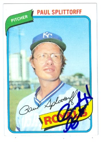 - Autograph Warehouse 48562 Paul Splittorff Autographed Baseball Card Kansas City Royals 1980 Topps No .409