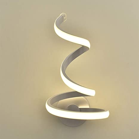 Minimalist Modern White Indoor Plug In Metal Wall Sconce