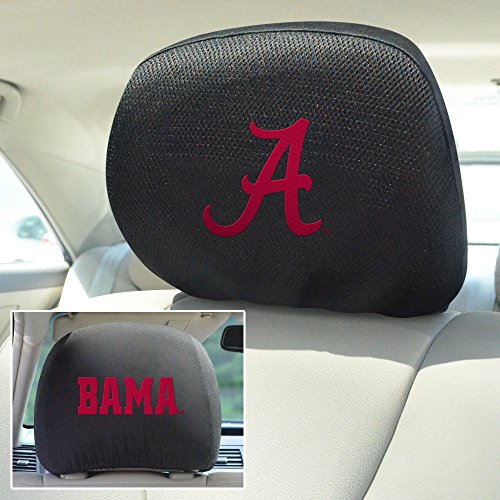 FANMATS NCAA University of Alabama Crimson Tide Polyester Head Rest Cover