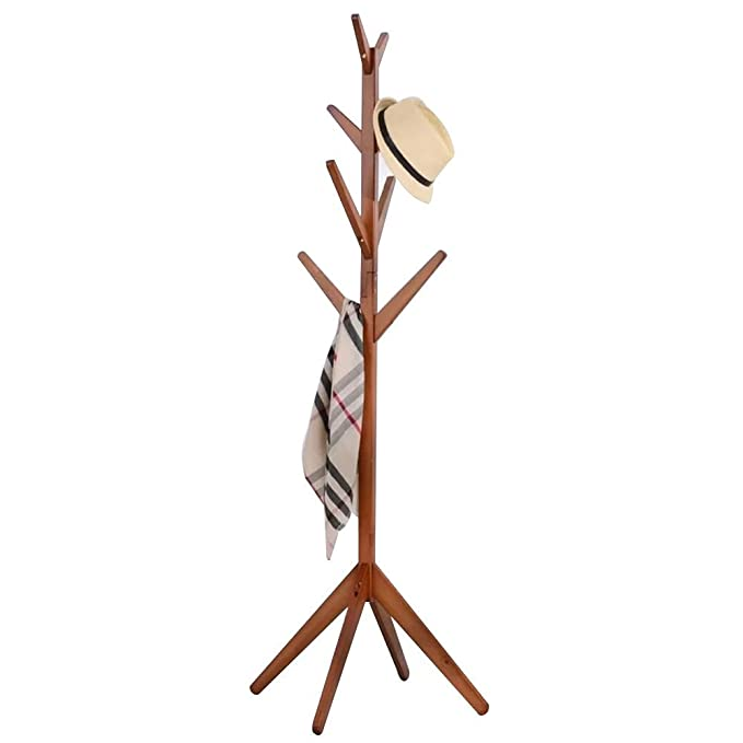 SONGMICS Coat Rack Stand Coat Tree Hat with 2 Shelves Faux Marble Minimalist Style White Marble Look RCR16WM Bag for Clothes Hall Tree Free Standing