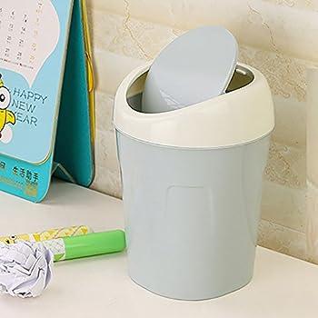 Cute Mini Trash Can Garbage Can Storage Basket Storage Rack Garbage Bin with Lid Trash Pack Collector