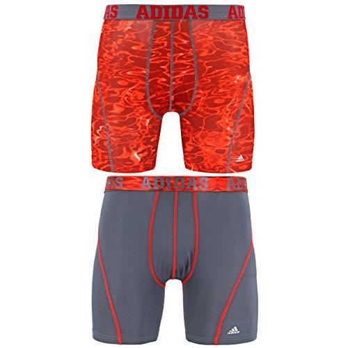 Large 2-Pack Collegiate Navy//Semi Solar Slime Grey//Collegiate Navy adidas Mens Sport Performance Climacool Boxer Briefs Underwear