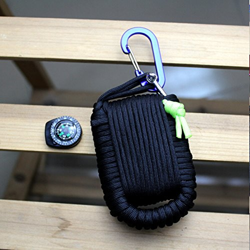 Micogo-29pcs-Paracord-Emergency-Survival-KitFirst-Aid-Kit-Emergency-Fishing-Gear-Whistle-Fire-Starter-Set-more-Black
