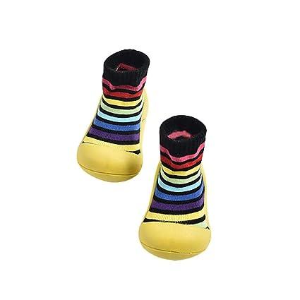 Zapatos de calcetines para bebés, suelas de goma suave antideslizante para niños,