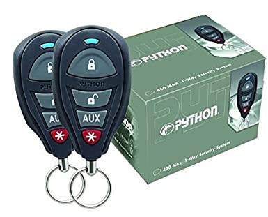 Directed Electronics Inc 3105P Python 460 Max 1 Way Security System with 4 Button Remote Controls
