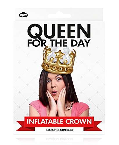 Crown Queen's - NPW-USA Queen for The Day Inflatable Crown, Gold