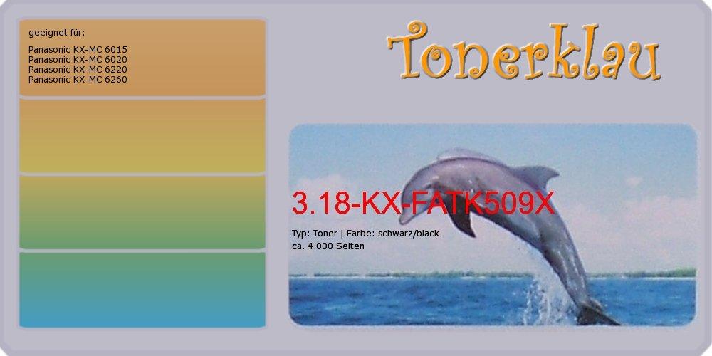 Kompatibel Toner 3.18-KX-FATK509X für  Panasonic KX-MC 6015 als Ersatz für Panasonic KX-FATK509