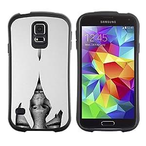 "Hypernova Slim Fit Dual Barniz Protector Caso Case Funda Para Samsung Galaxy S5 [Heartbreak grises mujer Ojos""]"