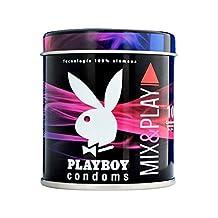 Condones Playboy Mix & Play 10 pzas 5 Extra Sensibles y 5 Texturizados