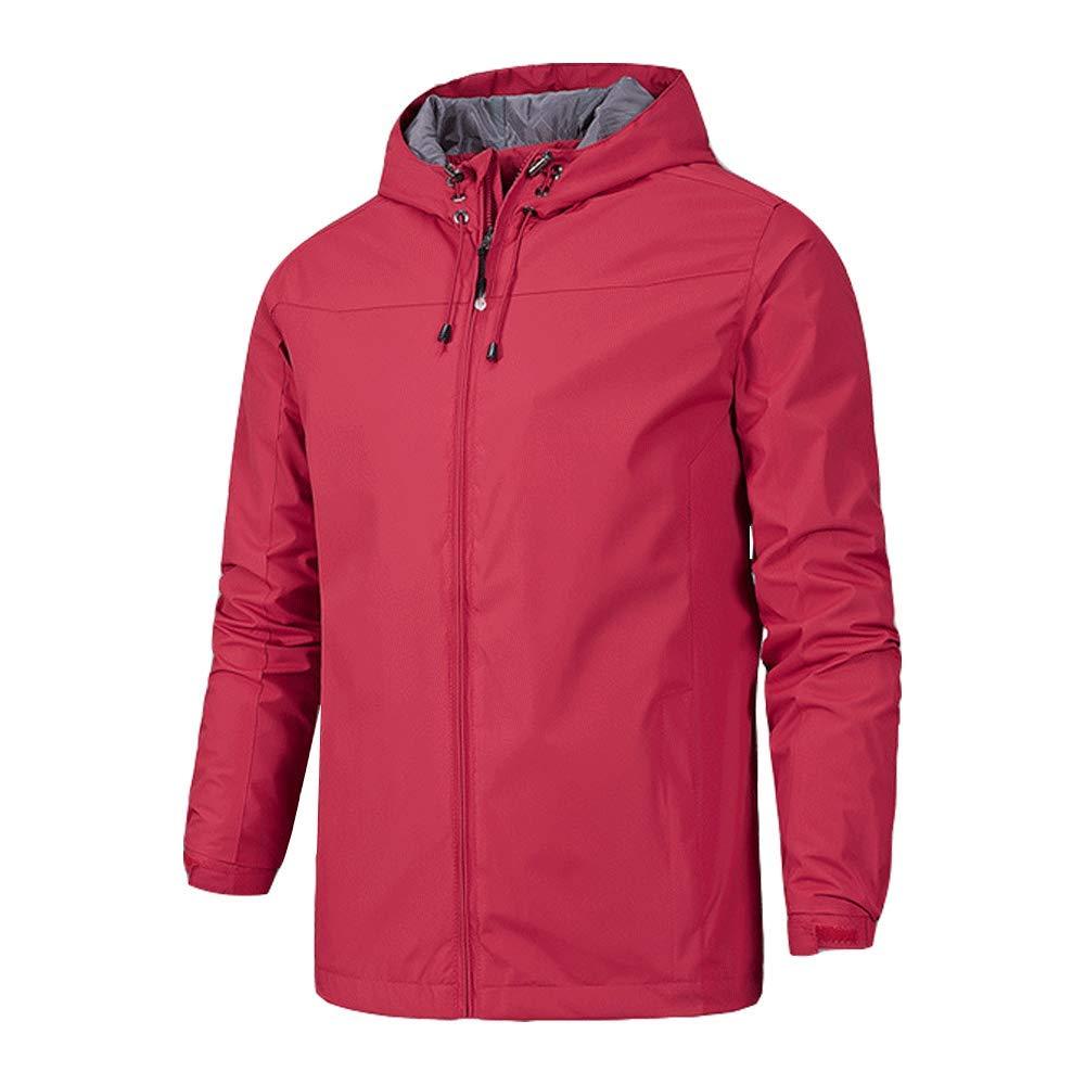 Men's Hiking Outdoor Raincoat Zip Closure Water Resistant Trench Parka Jackets M_0912Raincoat10