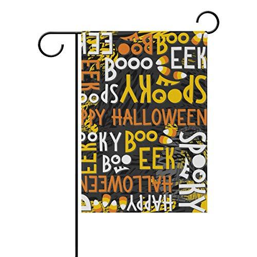 Letter Halloween Boo Garden House Flag 12x18 inch Double Sided Yard Flag Outdoor Home Decor]()