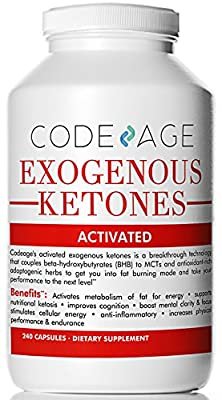 Codeage Exogenous Ketones Capsules - 240 Count - Keto Diet Supplement with BHB Salts as Exogenous Ketones, Electrolytes