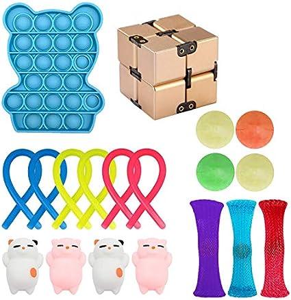 AGUDOU Sensory Fidget Toys Set Juguetes Sensoriales,Alivia el Estrés y la Ansiedad para niños y Adultos,Especiales Toy para TDAH Autismo