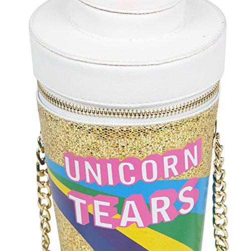 LUI SUI 2017 Unicorn Tears Girls Drink Cross Body Bag Chain Purse (Gold) Photo #9