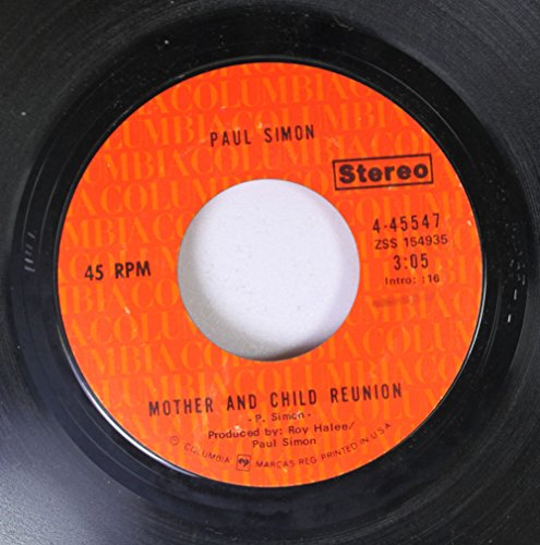 paul simon 45 RPM mother and child reunion / paranoia blues